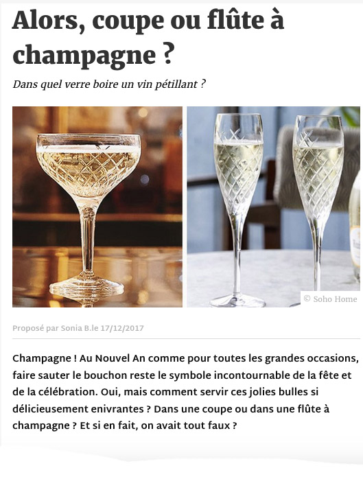 Article Deco.fr champagne- communication éditoriale production de contenus